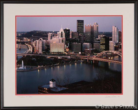 Pittsburgh at Dusk 20x24 #118