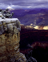 610-45 Snow on Yavapai Point - Grand Canyon, Arizona