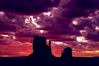 038-45 Sunrise Mittens - Monument Valley, Arizona